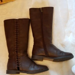 Kenneth Cole sz 13 little girl's brown boots
